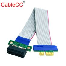 CY Cable  PCI-E Express 1X Slot Riser Card Extender Extension Ribbon Flex Relocate Cable 20cm high quality flexible 8cm 80mm 3 sli bridge pci e cable video card connector adaptor for asus nvidia flex cable