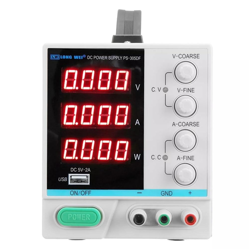 DC Power Supply 4 Digital Display 110V/220V 30V 5A Adjustable Switching Power Supply EU/US/UK/AU PlugDC Power Supply 4 Digital Display 110V/220V 30V 5A Adjustable Switching Power Supply EU/US/UK/AU Plug