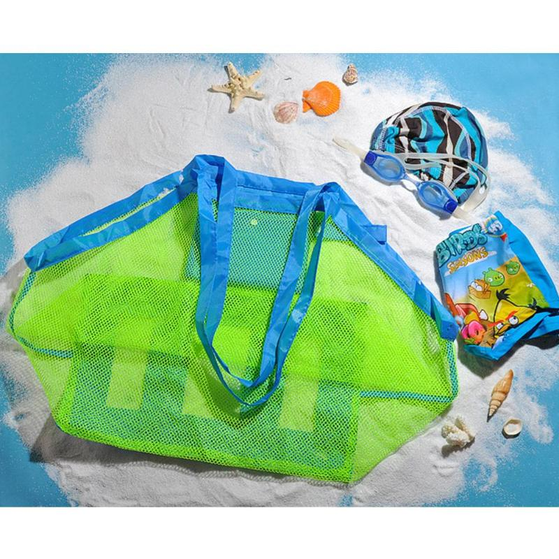 Portable Baby Bag Net For Mother Baby Child Beach Mesh Bag Child Bath Toy Organizer Bag Net Summer Baby Nappy Changing Bag