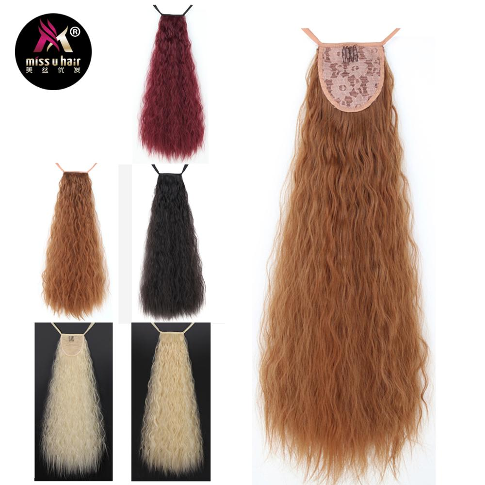 Synthetic Ponytails Painstaking Miss U Hair Long Kinky Curly Taro Synthetic Ribbon Ponytail Clip In Hair Extensions Hairpieces Party Wig