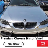 Car Silver Chrome bright color vehicle film vinyl wrap roll car body sticker vinyl films Car Styling Easily repositioned install
