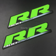 FASP 2 pieces 900 FACTORY Emblem Sticker Decal Motorcycle For RR suspension