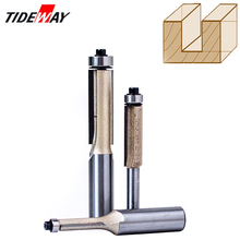 Tideway 1/4 1/2 Shank Flush Trim Router Bits for Wood Trimming Cutters with Bearing Woodworking Tool Endmill Milling Cutter huhao 1pc 1 2 inch shank half round bit 2 flute endmill router bits for wood with bearing woodworking tool milling cutter