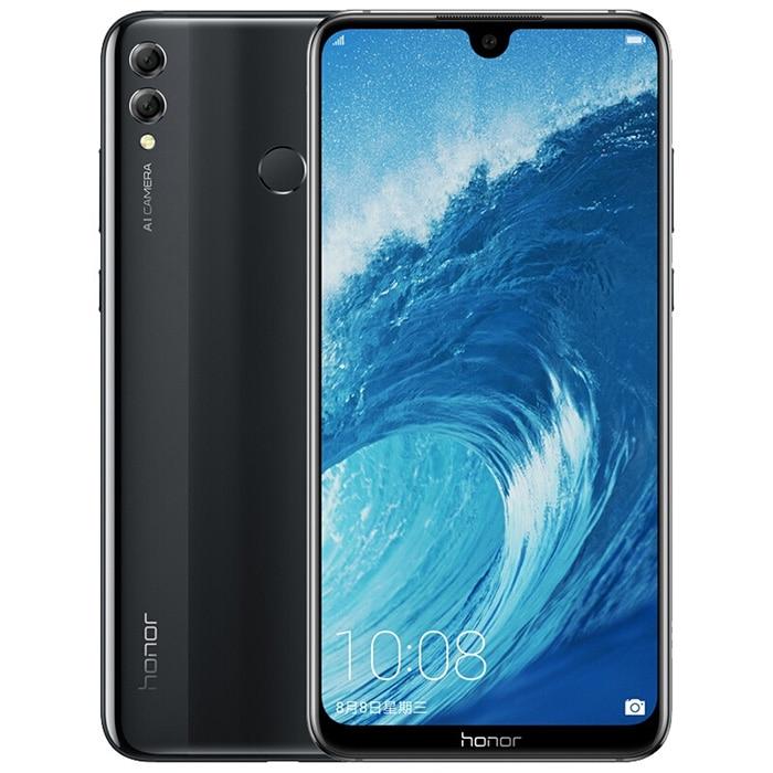 Купить Honor 8X Max 7,12 дюймов мобильный телефон Android 8,1 16MP Восьмиядерный экран отпечатков пальцев ID 4900 мАч аккумулятор смартфон на Алиэкспресс