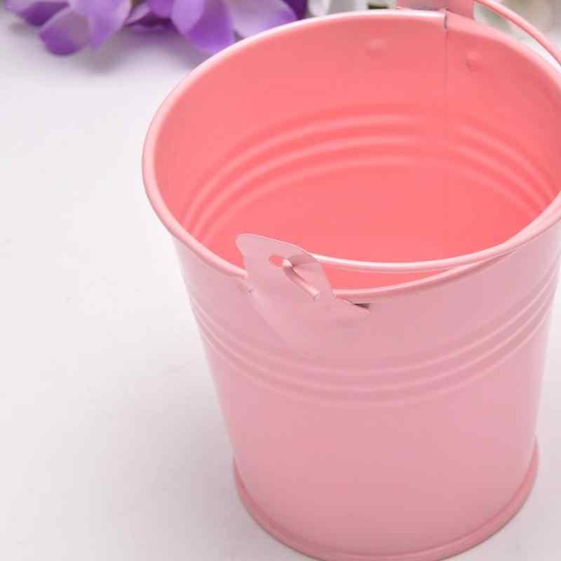 Venta al por mayor pequeño barril de hierro Tinplate Mini bañera Kegs decorativos antideformas Color brillante duradero suministros para el hogar S/M /tamaño L