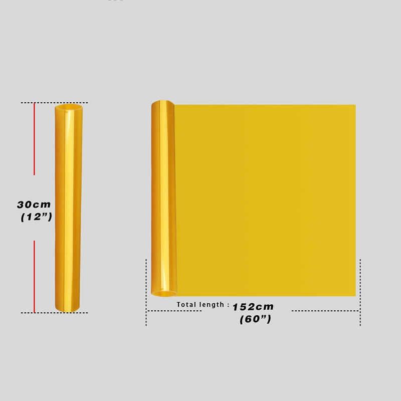 Uniwersalny 30*152cm złoty żółty reflektor Tailight Fog light folia z odcieniem winylu Auto naklejki diy akcesoria samochodowe Car Styling