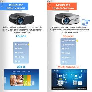 Image 3 - 70% قبالة BYINTEK M7 LED كامل HD 1080P 3D 4K المسرح المنزلي سينما الفيلم عارض فيديو Projektor متعاطي المخدرات ل كمبيوتر لوحي (تابلت) وهاتف ذكي PC