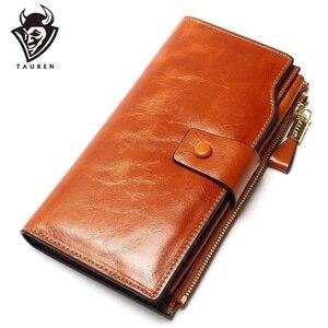 Image 1 - 2020 New Design Fashion wielofunkcyjna portmonetka z prawdziwej skóry portfel damski w dłuższym stylu portfel z krowiej skóry torba hurtowa i detaliczna