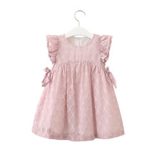 Summer Party Toddler Kids Baby Girls Clothes Chiffon Bowknot Party Pageant Princess Dress Cute Outdoor Photograph Dress 2015 summer new stylish kids toddler girls princess dress sleeveless polka dots bowknot dress top quality cute