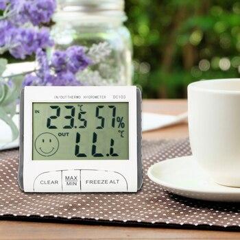 FORAUTO-COM LCD דיגיטלי מדי חום ביתי DC103 מדחום נייד מעורר מקורה וחיצוני להשתמש טמפרטורת לחות מד