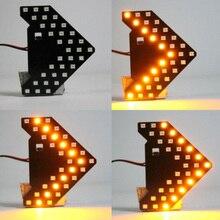 1 PC 6500 ~ 7000K 12V DC 33SMD Đèn LED Màu Vàng Xe Chiếu Hậu Đèn Mũi Tên Chỉ Đạo Ánh Sáng kiểu Dáng Xe Phụ Kiện An Toàn