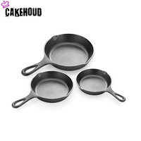 CAKEHOUD 10.25 Inch Cast Iron Skillet For Pre flavoring Of Oven Stoves Heavy Duty Non stick Oven Frying Pan Kitchen Cookware