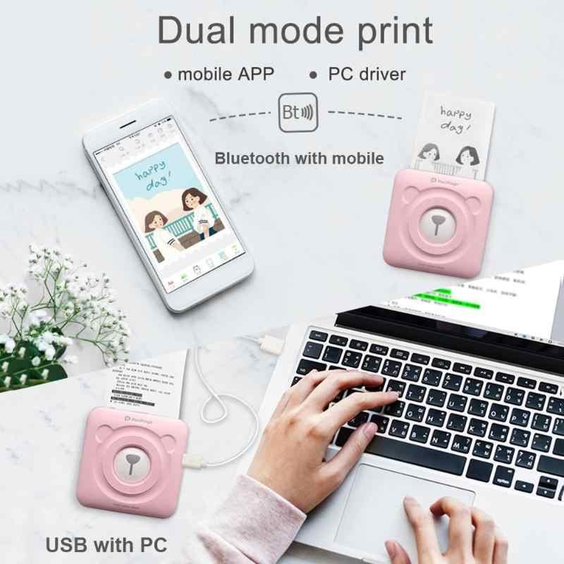Portátil A6 PeriPage Mini impresora térmica papel foto bolsillo impresión inalámbrico Bluetooth impresora para teléfono USB para PC