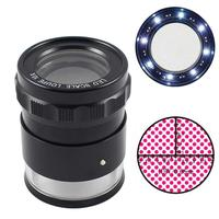 10X Stand Measuring Magnifier Scale Loupe with LED Light Magnifying Glass
