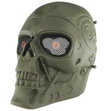 MUMIAN Terminator полное лицо пейнтбольная маска Спортивная пластиковая тактическая маска для верховой езды для CS игры Косплей