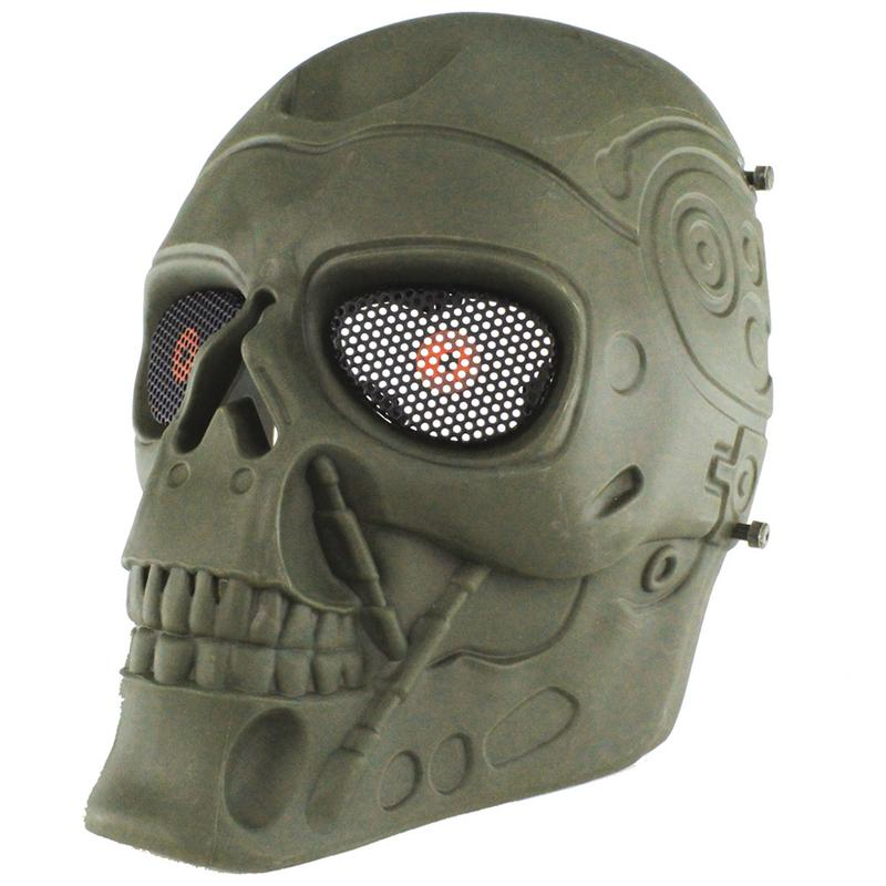 MUMIAN Terminator Full Face Paintball Mask Sports Plastic Tactical Riding Mask For CS Game Cosplay