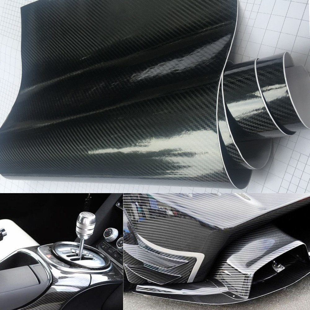 DIY Silver Matte Leather Decal Textured Vinyl Sticker Tape for Car Phone Wrap CF