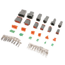 6 Kit 2 3 4 6 8 12 Pin Konektor Seri Abu-abu Wadah IP67 Tahan Air Tugas Berat 22-16 AWG 13 AMPS(China)