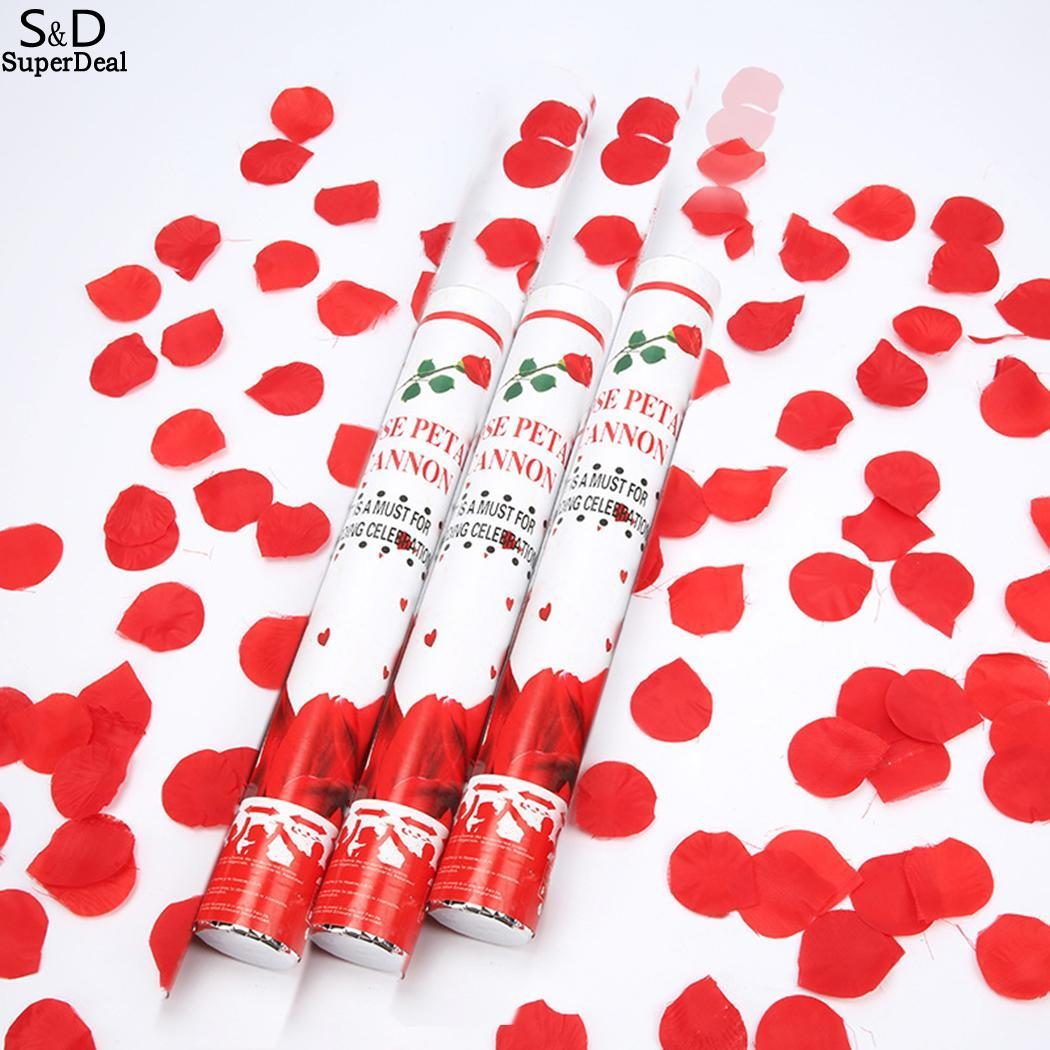30cm RED Foil Confetti Shooter Compressed Air Cannon Party Popper Fun