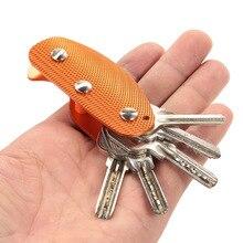 Папка-органайзер для ключей, брелок, компактный алюминиевый сплав, держатель для ключей, органайзер для ключей, папка с зажимом, многофункциональная, для повседневного использования, карманный инструмент, снаряжение