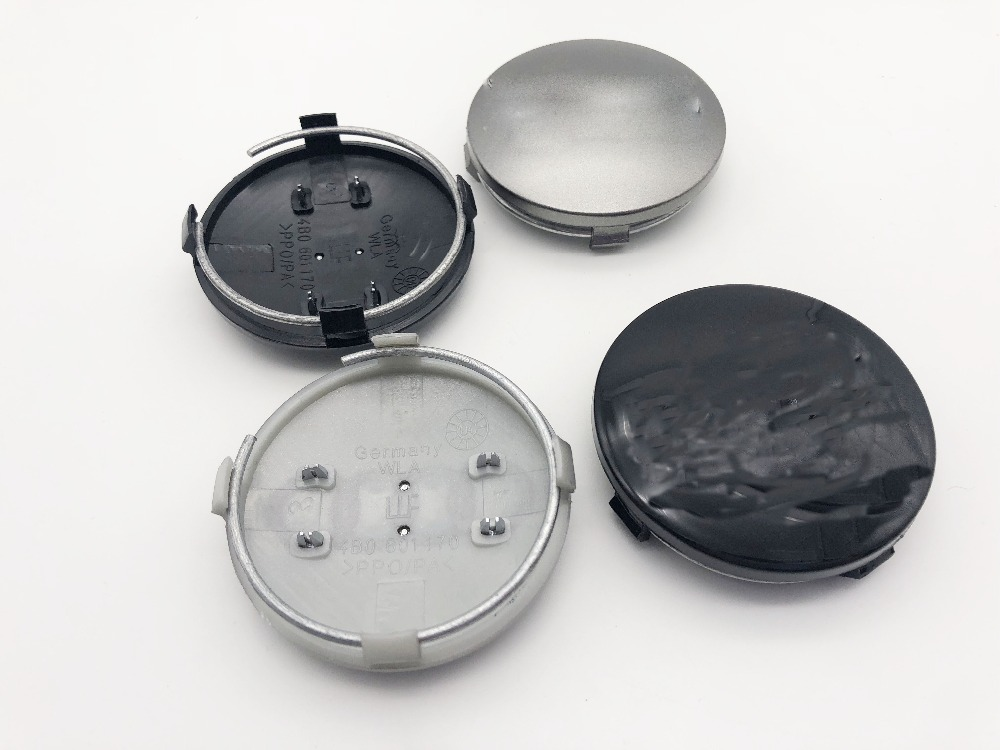 40pcs 60mm Grey Black Wheel Center Cap Wheel Hub Caps Rims Cover car Badge Emblem Case