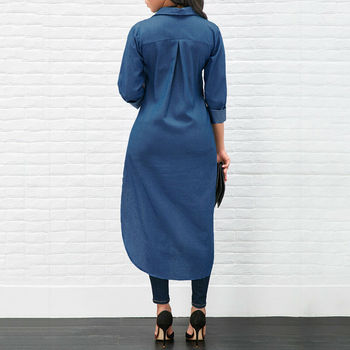 Denim T-Shirt Dress 1