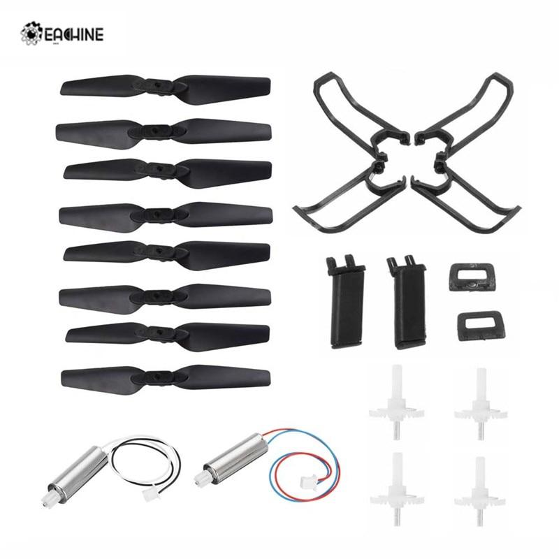 Original Eachine E58 RC Drone Quadcopter Spare Parts Crash Pack Kits Propeller Blade Set With Clip Motor Gear Props Guard Parts