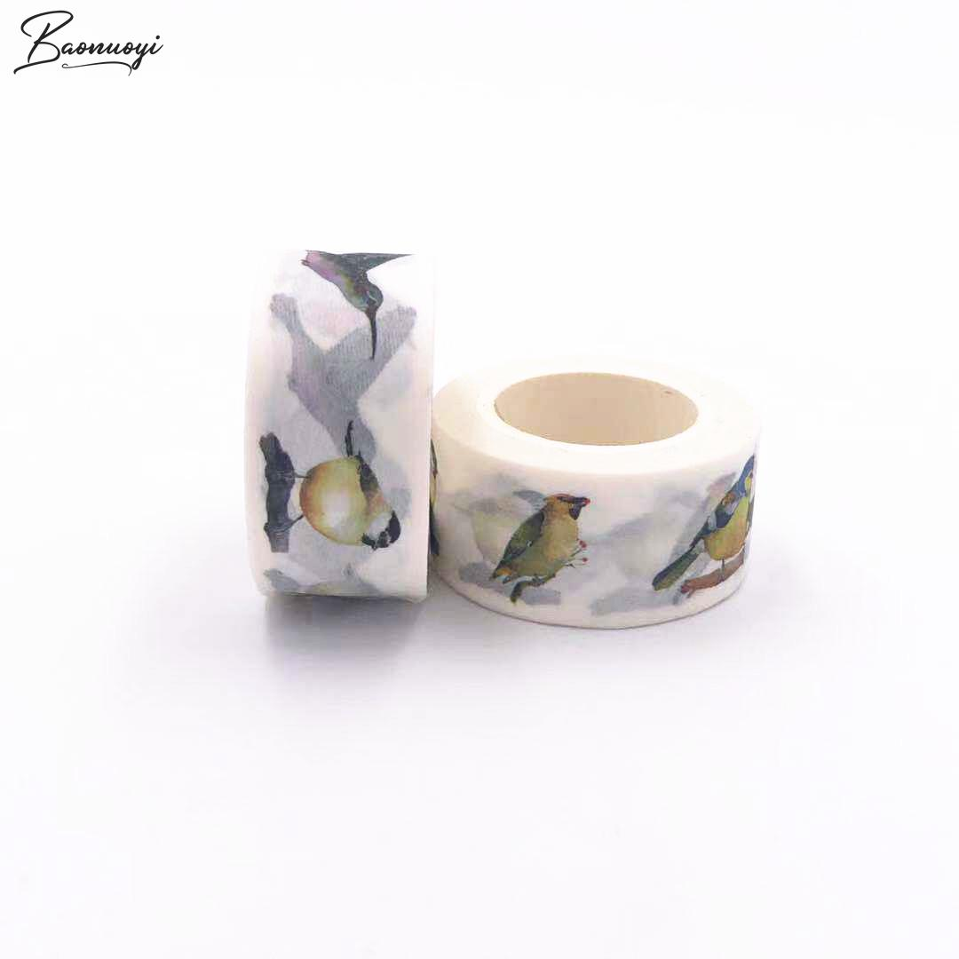 Diy Birds Tape Decoration Roll Diy Washi Decorative Sticky Paper Masking Tape Self Adhesive Tape Scrapbook Tape For Photo Album