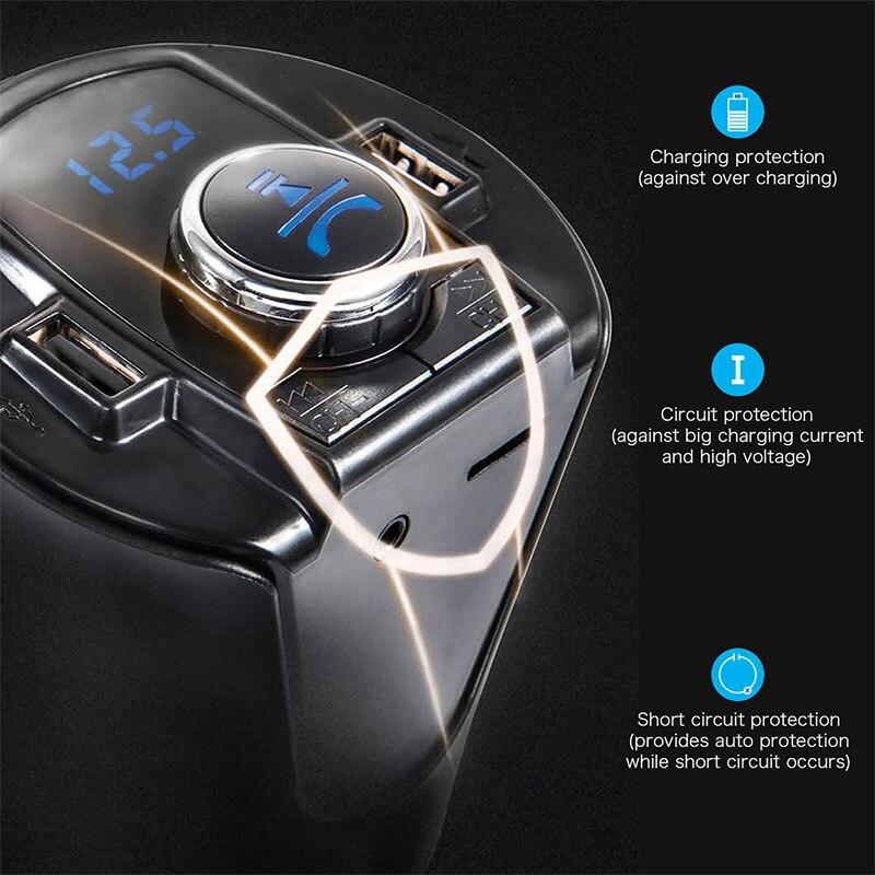 VEHEMO 12-24 V чашки ABS Bluetooth автомобиля Зарядное устройство MP3 плеер для автомобиля грузовика зарядное устройство автомобильной TF Pin FM передатчик Аксессуары
