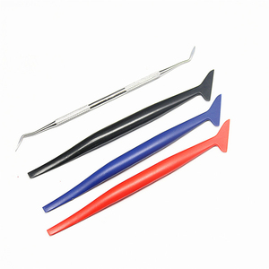 Image 3 - 4PCS Auto Aufkleber Ecke Schmücken Schaber für Fenster Tönung Anwendung Auto Vinyl Wrap Tuck Werkzeuge Dichtung Micro Rakel