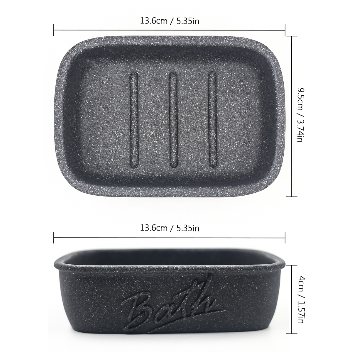 Resin Soap Dish Saver Box Shower Soap Case Holder for Bathroom Kitchen Sink Sandstone Appearance Easy Clean Anti Mould in Portable Soap Dishes from Home Garden