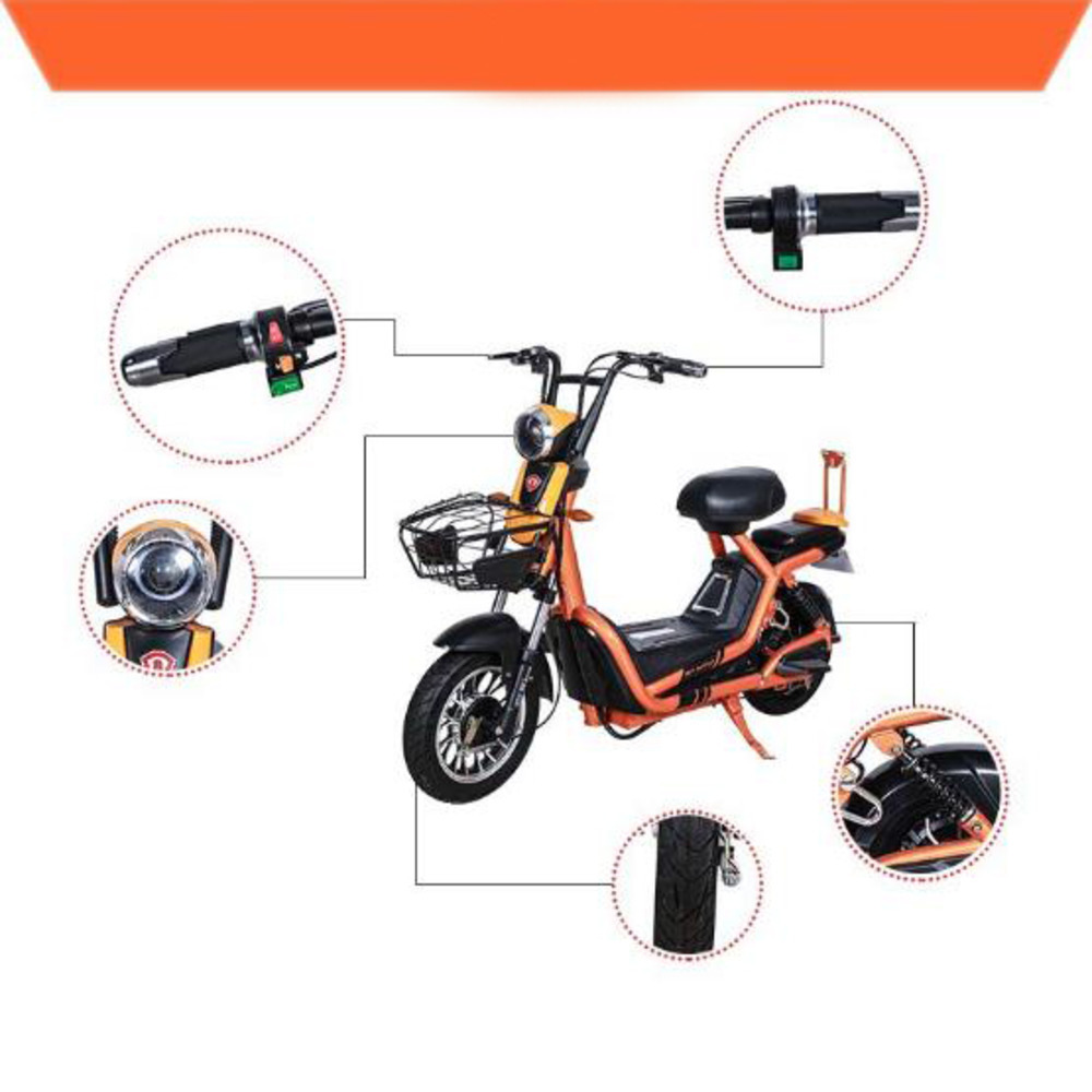 Hot Sale Electric Motorcycles Ebike Storage Battery 14inches Motorcycle Citycoco Electric Scooter Electric Bike Electric Bicycle in Electric Bicycle from Sports Entertainment