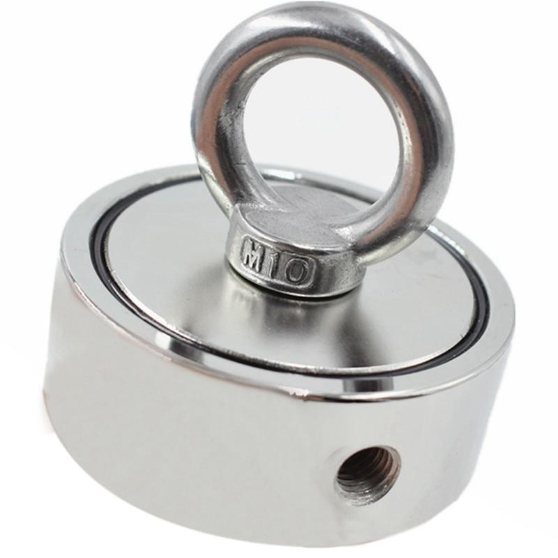 Sterke Neodymium Magneet Dubbele Kant Zoeken Magneet Haak Super Power Salvage Vissen Magnetische Stell Bekerhouder Snelle Kleur