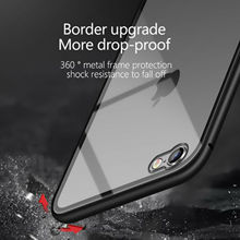 mobile 360 armor cover metal bumper tempered Glass magnetic Adsorption for iphone x