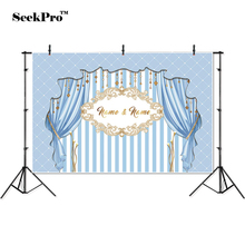 thin vinyl birthday picture frame curtain children photo Backgrounds Printed Professional indoor Photographic studio Backdrop