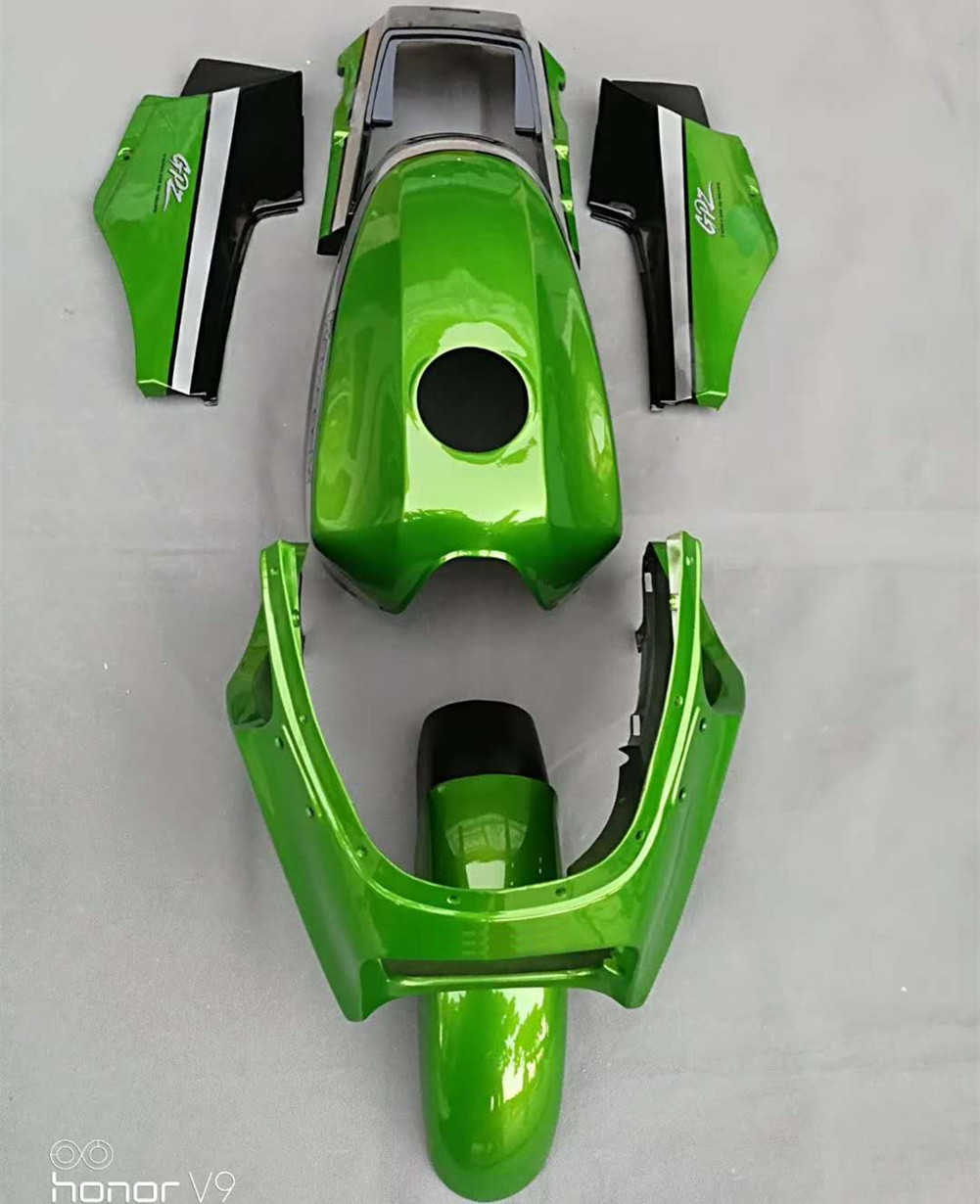 Green Fairings Bodywork Cowling Frame Cover Side Panel Mudguard Fender w/ Tank Fairing for Kawasaki GPZ900R ZX900A Ninja 900