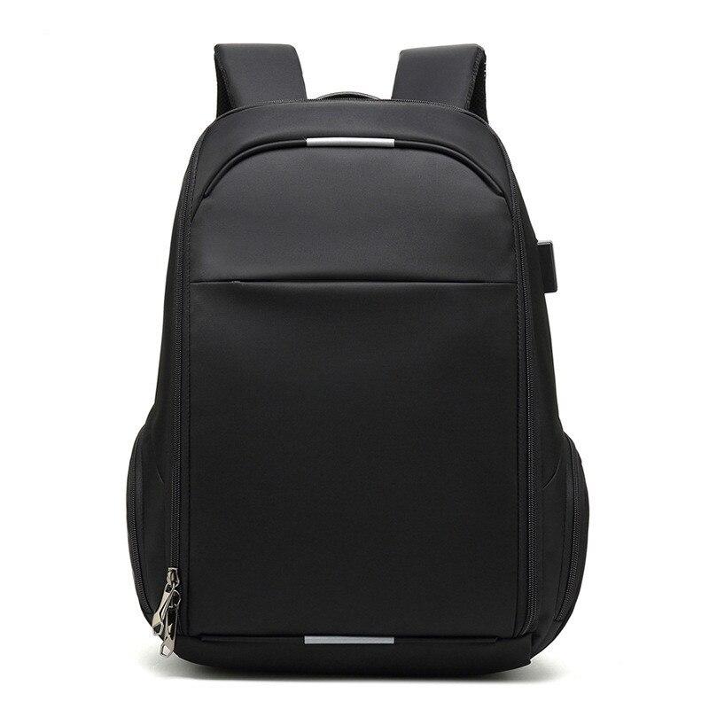 VM Модный деловой мужской 15,6 рюкзак для ноутбука для мужчин, студенток, женщин, школьный рюкзак с двумя плечиками, usb зарядка, рюкзаки для путе... - 2