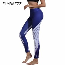 Fitness Yoga Sports Legging For Women Sports Tight Feather Print High Waist Yoga Leggings Yoga Pants Female Running Pants Tights цены онлайн