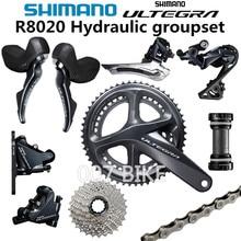 SHIMANO R8020 Groupset ULTEGRA R8020 R8000 הידראולי דיסק בלם Derailleurs כביש אופניים R8070 שיפטר 50 34T 52 36T 53 39T