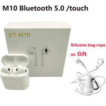 Free Gift silicone bag! XT M10 TWS Bluetooth 5.0 Earphones Wireless headphon Earbuds can single used Touch control headset