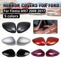 Боковое зеркало  крышка зеркала заднего вида  украшение бара для ford для Fiesta MK7 2008 2009-2017  2 шт. в наборе  цветные на выбор