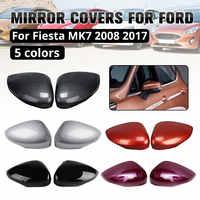 Lato Copertura Dello Specchio copertura Dello Specchio retrovisore Bar Decorazione per ford per Fiesta MK7 2008 2009-2017 2 pcs per set Colorato Per La Scelta
