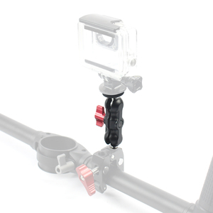 "Image 4 - Alüminyum Sihirli Kol Çift 1/4 ""Top Kafa Montaj Gidon için Süper Kelepçe Hotshoe Monitör Tripod Rig Canon Nikon DSLR Kamera"