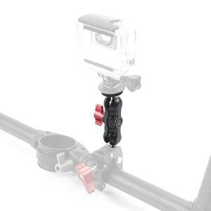 """Image 4 - Bras magique en aluminium double 1/4 """"support de tête de boule Super pince pour moniteur de chaussure chaude trépied plate forme pour appareil photo Canon Nikon DSLR"""