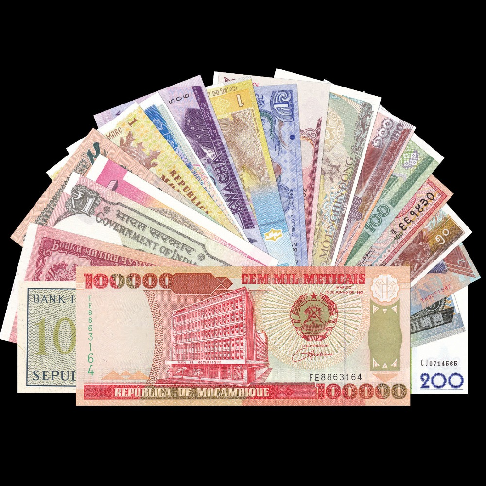 Free Shipping! Lot 20 PCS Set From 20 Different Countries, UNC, Exit Circulate, Gift, 100% Genuine Original Paper Notes