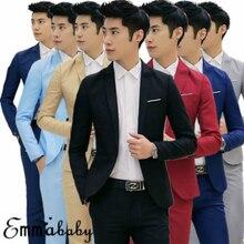 7 Colors Men Blazers Brand 2019 Korean Style Men's Blazers a