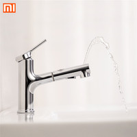 Xiaomi DABAI Bathroom Basin Sink Faucet Pull Out Rinser Sprayer Gargle Brushing 2 Mode Mixer Tap Bathroom Faucet Hot Cold