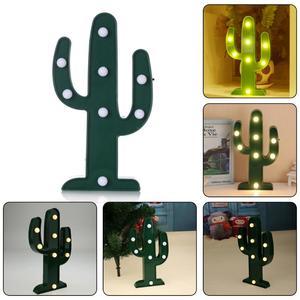 Image 2 - 3D Xương Rồng LED Lãng Mạn Đèn Bàn Xanh Bóng Đèn Ngày Lễ Chiếu Sáng Đèn Ban Đêm Cho Bé Trang Trí Phòng Ngủ Luminaria Trang Trí Phòng