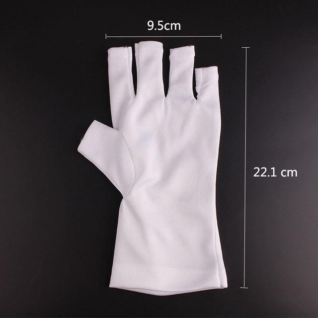 UV Gel Nail Art Anti-ultraviolet Open-Toed Gloves Professional White Protection UV Lamp Gel Polish Tips Gloves Nail Tools
