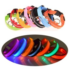 1PC Nylon Pet Dog Collar LED Light Night Safety Glowing Supplies Cat Accessories For Small Dogs XW.